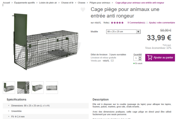 Acquisition de pièges à chats