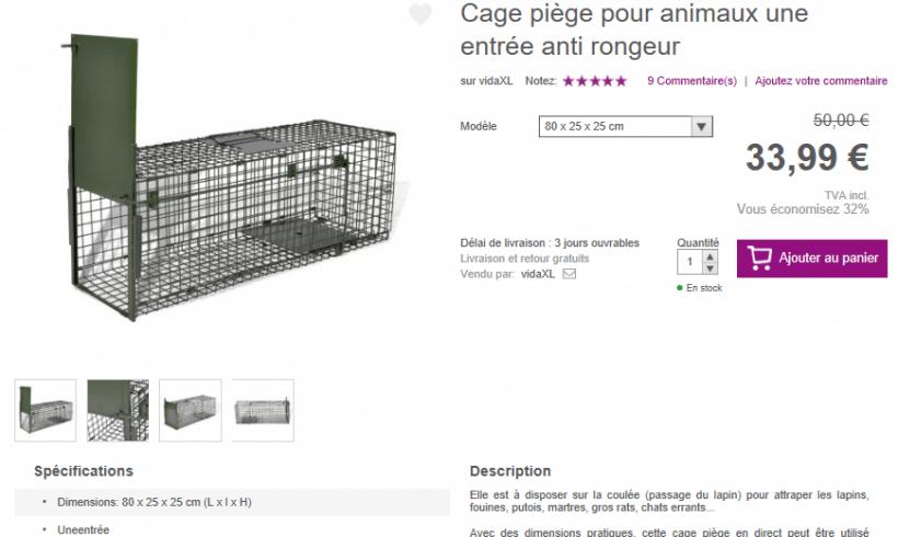 Acquisition de pièges à chats
